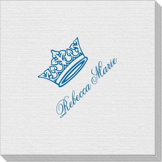 Delicate Princess Crown Linen Like Napkins