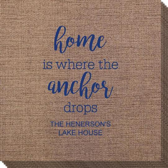 Home is Where the Anchor Drops Bamboo Luxe Napkins