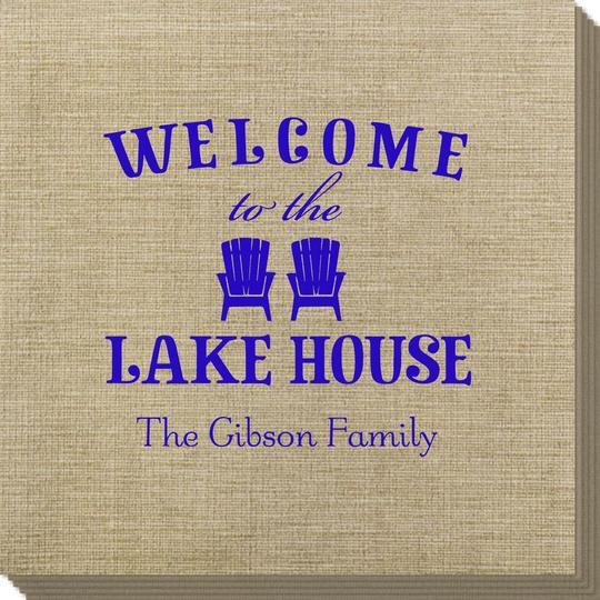 Welcome to the Lake House Bamboo Luxe Napkins