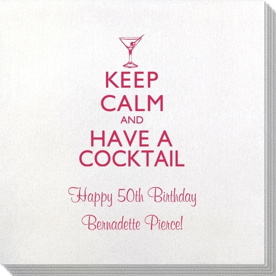 Keep Calm and Have a Cocktail Bamboo Luxe Napkins