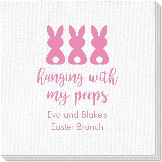 Hanging With My Peeps Easter Deville Napkins