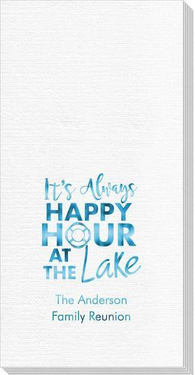Happy Hour at the Lake Deville Guest Towels