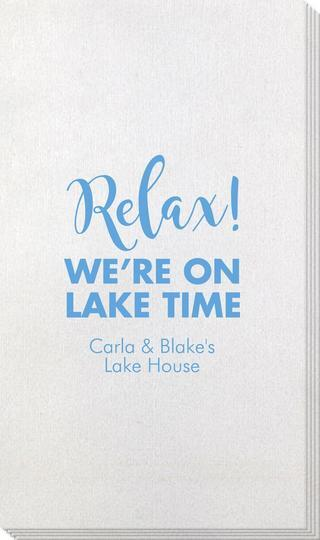 Relax We're on Lake Time Bamboo Luxe Guest Towels