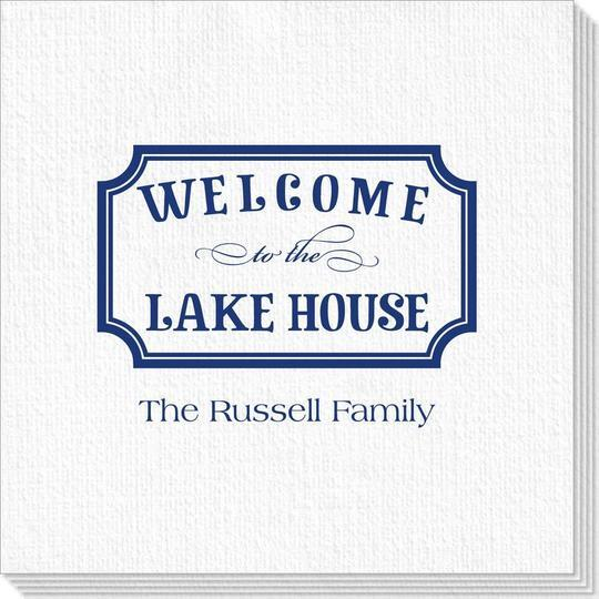 Welcome to the Lake House Sign Deville Napkins