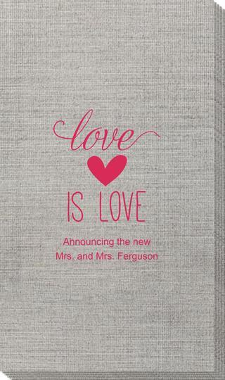 Love is Love Bamboo Luxe Guest Towels