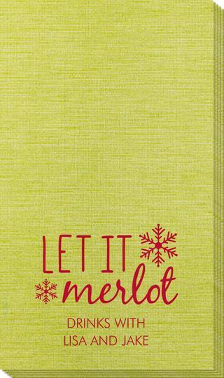 Let It Merlot Bamboo Luxe Guest Towels