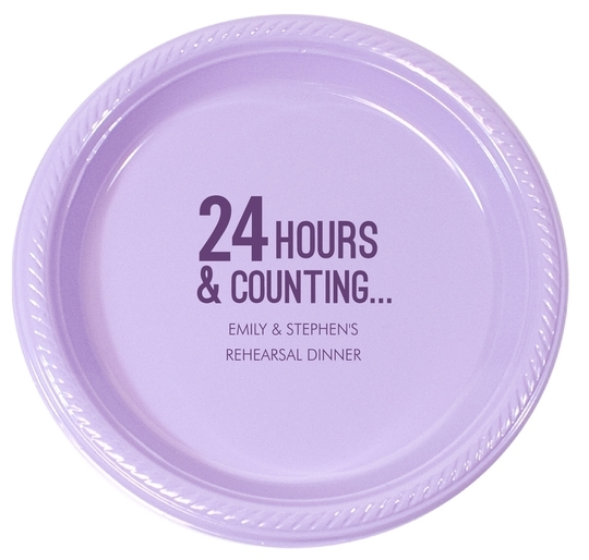 24 Hours and Counting Plastic Plates