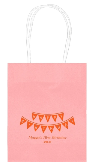 Birthday Banner Mini Twisted Handled Bags