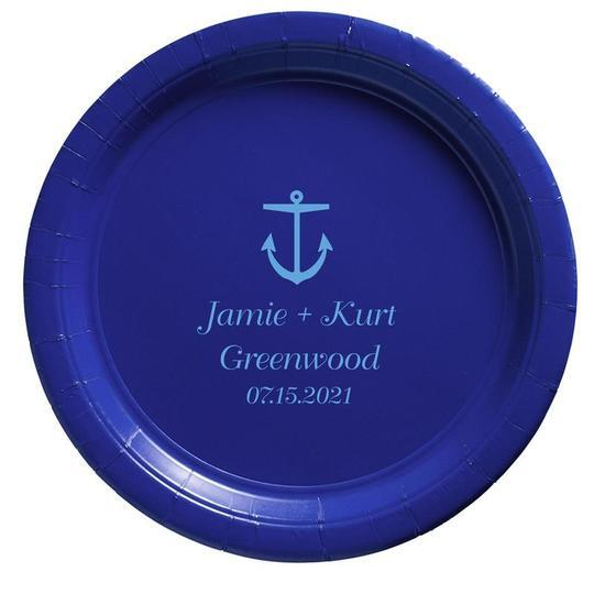Nautical Anchor Paper Plates
