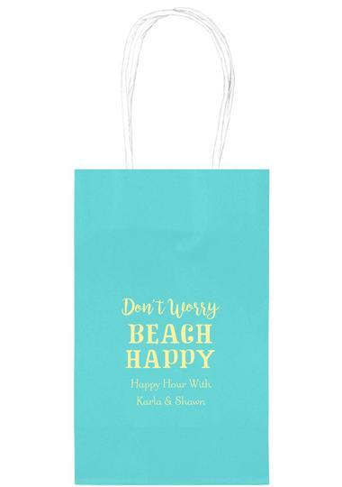Don't Worry Beach Happy Medium Twisted Handled Bags