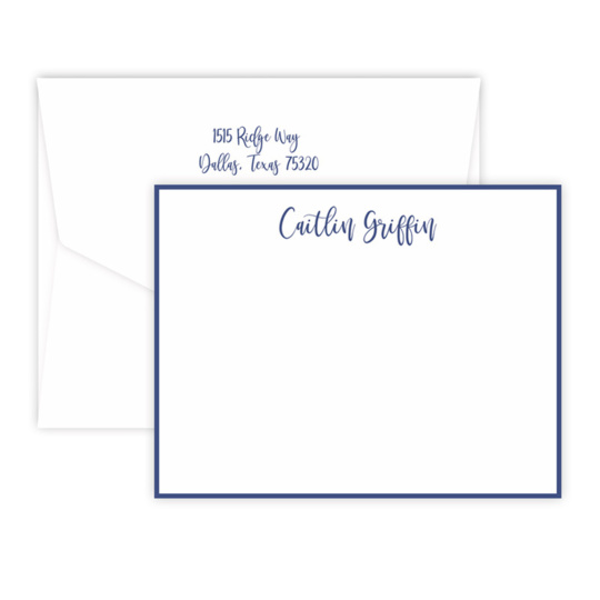 Triple Thick Radiant Flat Note Cards
