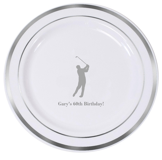 Golf Day Premium Banded Plastic Plates