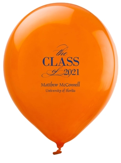 Classic Class of Graduation Latex Balloons