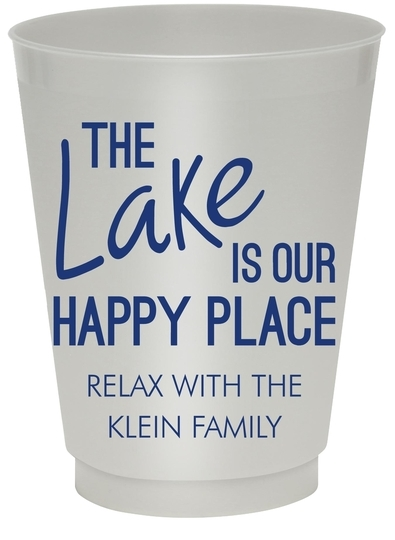 The Lake is Our Happy Place Colored Shatterproof Cups