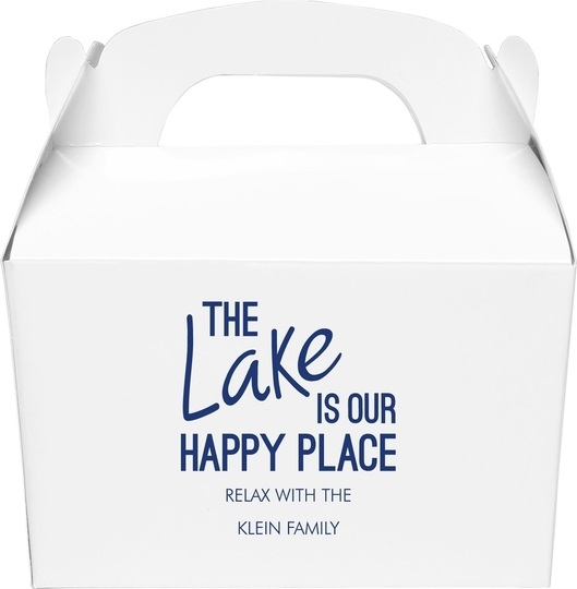 The Lake is Our Happy Place Gable Favor Boxes