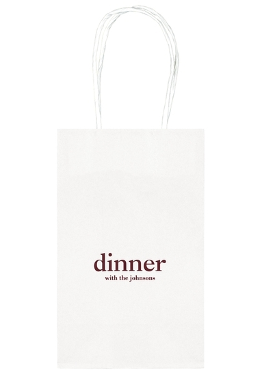 Big Word Dinner Medium Twisted Handled Bags