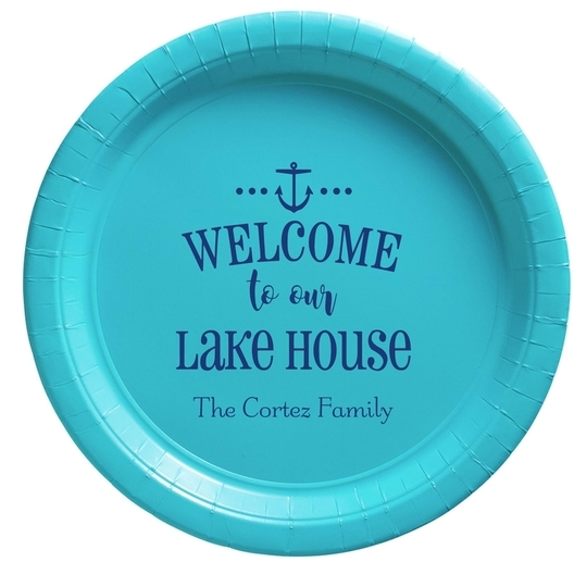 Welcome to Our Lake House Paper Plates