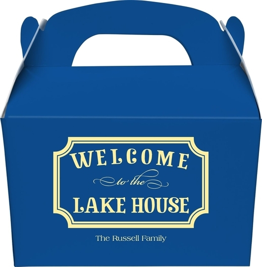 Welcome to the Lake House Sign Gable Favor Boxes