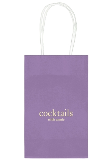 Big Word Cocktails Medium Twisted Handled Bags