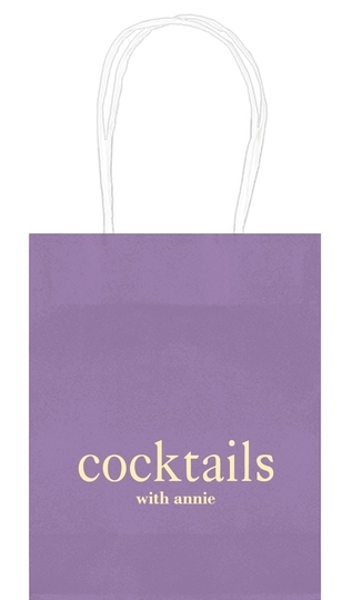 Big Word Cocktails Mini Twisted Handled Bags