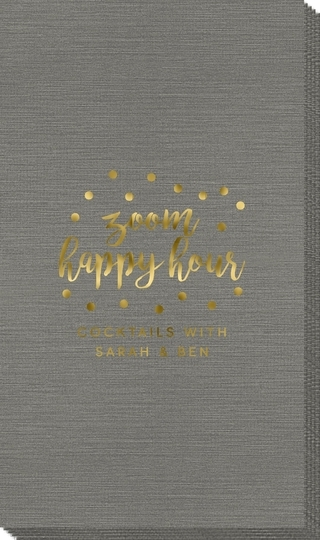 Confetti Dot Zoom Happy Hour Bamboo Luxe Guest Towels