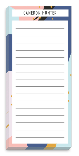 Abstract Border Lined List Notepads