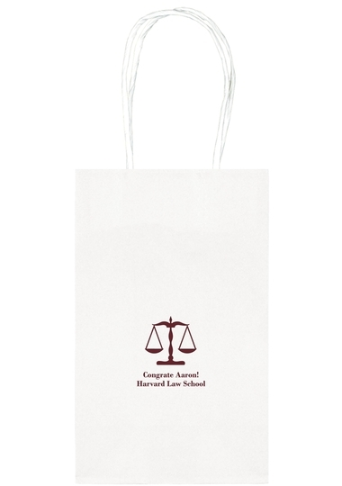 Scales of Justice Medium Twisted Handled Bags