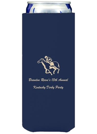 Horserace Derby Collapsible Slim Koozies