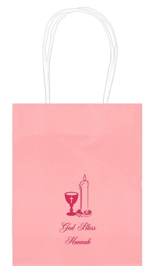 Chalice and Candle Mini Twisted Handled Bags