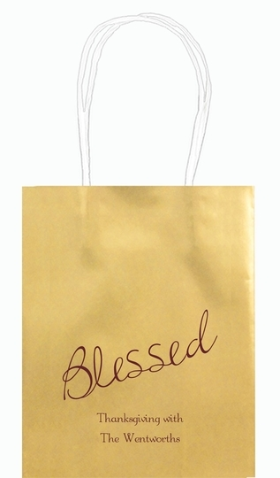 Expressive Script Blessed Mini Twisted Handled Bags