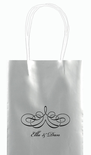 Magnificent Scroll Mini Twisted Handled Bags