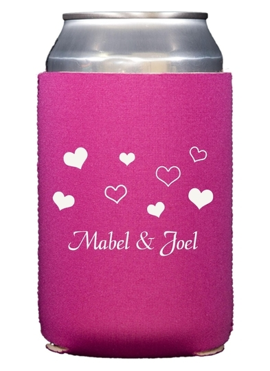 Pretty Hearts Galore Collapsible Koozies