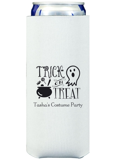 Trick or Treat Collapsible Slim Koozies