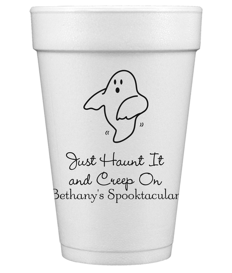 The Friendly Ghost Styrofoam Cups