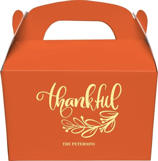 Thankful Gable Favor Boxes