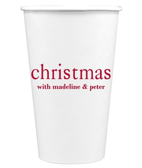 Big Word Christmas Paper Coffee Cups