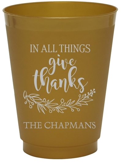 Give Thanks Colored Shatterproof Cups