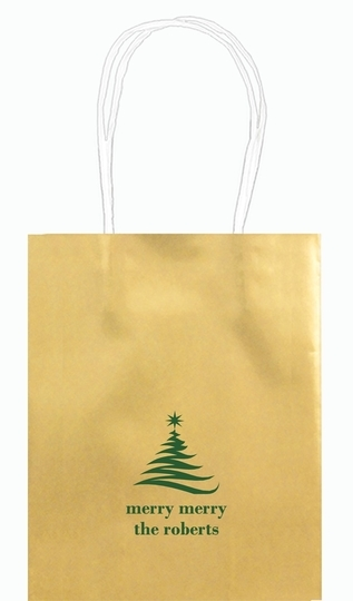 Artistic Christmas Tree Mini Twisted Handled Bags