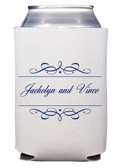 Royal Flourish Framed Names Collapsible Koozies