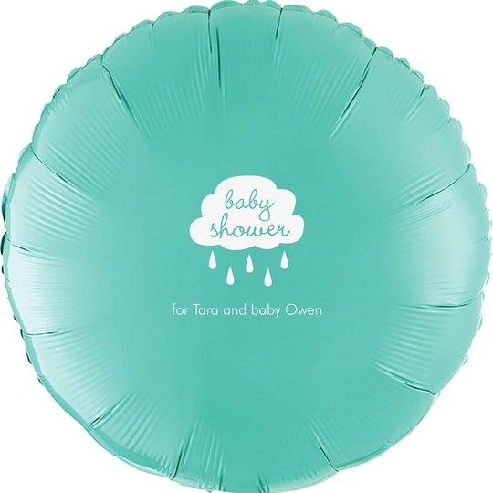Baby Shower Cloud Mylar Balloons