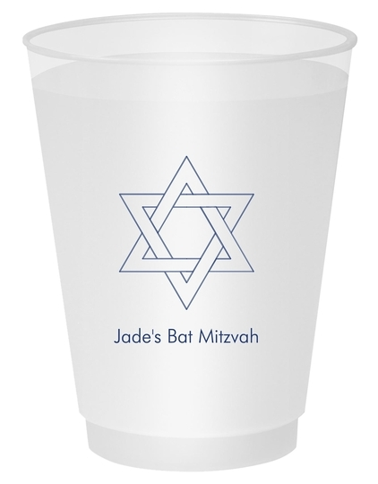 Interlocking Star of David Shatterproof Cups