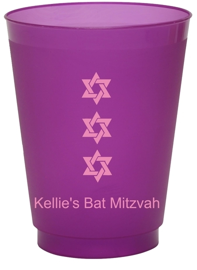 Star of David Row Colored Shatterproof Cups