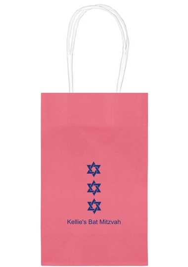 Star of David Row Medium Twisted Handled Bags