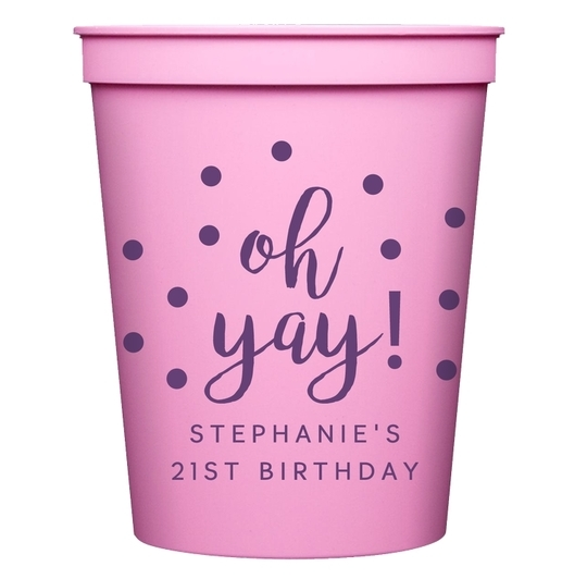Confetti Dots Oh Yay! Stadium Cups