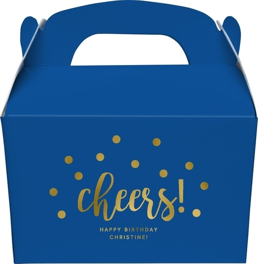 Confetti Dots Cheers Large Favor Boxes