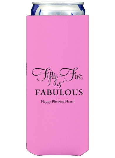 Fifty-Five & Fabulous Collapsible Slim Koozies