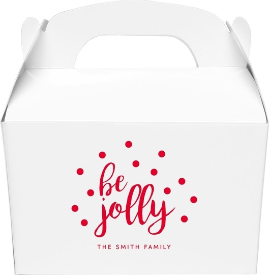 Confetti Dots Be Jolly Gable Favor Boxes
