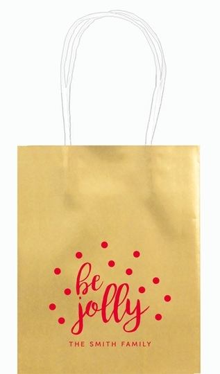 Confetti Dots Be Jolly Mini Twisted Handled Bags