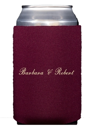 Formal Script Collapsible Koozies