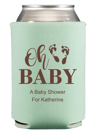 Oh Baby with Baby Feet Collapsible Koozies